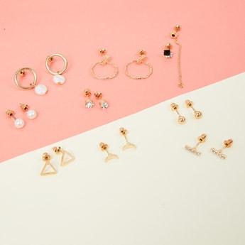 MAX Embellished Earrings Combo- Set of 9