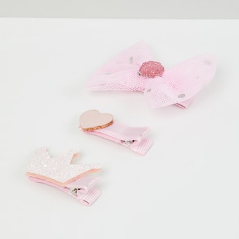 MAX Bow and Heart Shape Hair Clips - Set of 3