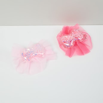 MAX Embellished Bow Shaped Clips - Set Of 2
