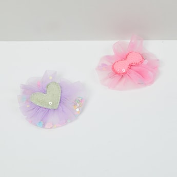 MAX Sequined Alligator Hair Clips - Set of 2