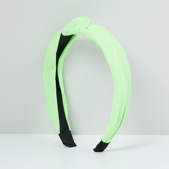 MAX Solid Knotted Bow Hair Band