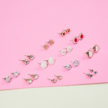MAX Embellished Stud Earrings Combo - Pack of 12