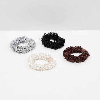 MAX Solid Fuzzy Rubber Band- Set of 4