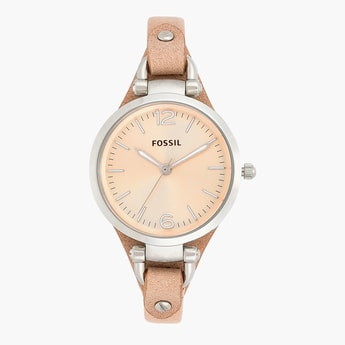 FOSSIL Women's Analog Watch with Leather Strap - ES2830