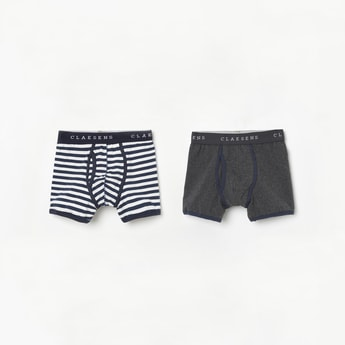 CLAESENS Striped Printed Trunks - Pack of 2 Pcs.