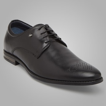 LOUIS PHILIPPE Perforated Derby Shoes