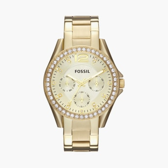 FOSSIL Riley Women Crystal-Encrusted Multifunction Watch - ES3203