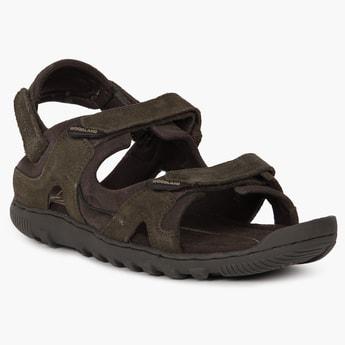 WOODLAND Velcro Closure Suede Sandals