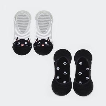 GINGER Women Patterned Knit Socks - Pack of 2