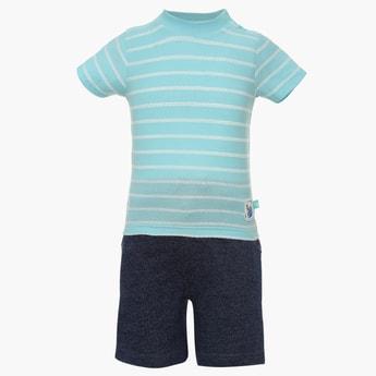 FS MINI KLUB Striped T-Shirt & Shorts Set