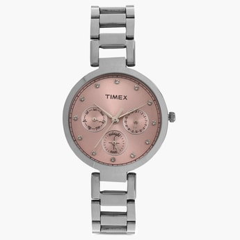 TIMEX Multifunction Round Dial Watch- TW000X212