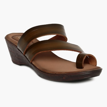 CATWALK Solid One-Toed Wedges
