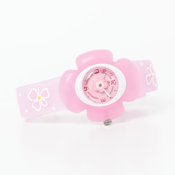 ZOOP Floral-Shaped Analog Watch