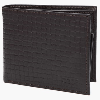 CODE Textured Genuine Leather Wallet