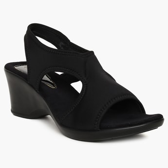 CATWALK Solid Cut-Out Detail Heels