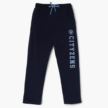 MANCHESTER CITY F.C. Typo Printed Drawstring Waist Trackpants