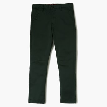 ALLEN SOLLY Solid Low Rise Slim Fit Trousers