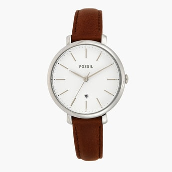 FOSSIL Women's Analog Watch with Leather Strap - ES4368