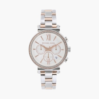 MICHAEL KORS Women Chronograph Watch with Metal Strap - MK6558I