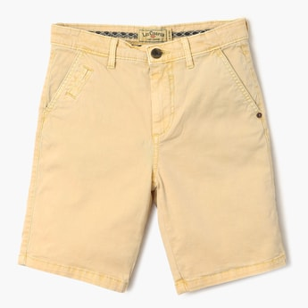 LEE COOPER JUNIORS Solid Low Rise Shorts
