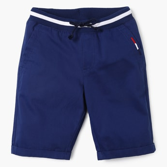 UNITED COLORS OF BENETTON Solid Upturned Hems Shorts