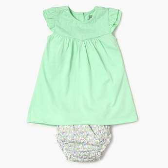 FS MINI KLUB Solid Cotton Baby Dress