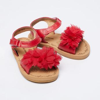 FAME FOREVER Floral Embellished Ankle Strap Sandals