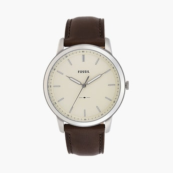 FOSSIL Men Analog Watch with Leather Strap - FS5439