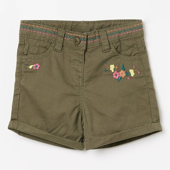 JUNIORS Embroidered Shorts