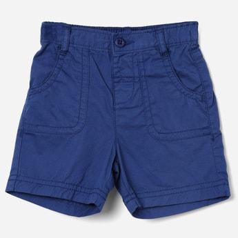 JUNIORS Solid Elasticated Waist Shorts