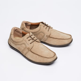 WOODLAND Solid Genuine Leather Casual Shoes