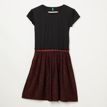 UNITED COLORS OF BENETTON Knitted Shimmer Dress
