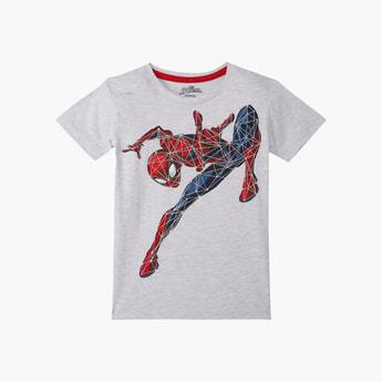 KIDSVILLE Boys Spiderman Print Short Sleeves T-shirt