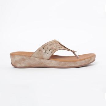 INC.5 Embellished Toe-Strap Flatforms
