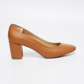 ALLEN SOLLY Solid Semi-Formal Block Heels