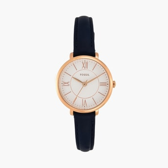 FOSSIL Women Analog Watch with Leather Strap - ES4410