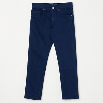 INDIAN TERRAIN Solid Flat-Front Jeans