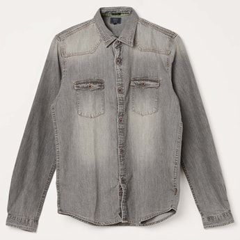 INDIAN TERRAIN Washed Denim Shirt