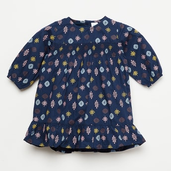 FS MINI KLUB Motif Printed Smock Detailed Dress