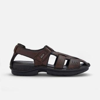 BUCKAROO Men Textured Velcro-Strap Sandals