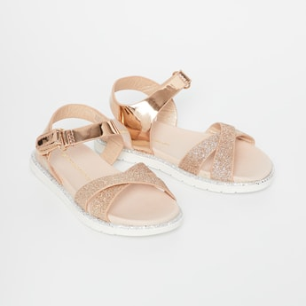 FAME FOREVER Shimmer Slingback Sandals