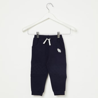 FS MINI KLUB Solid Joggers with Quilted Panel