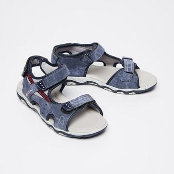 FAME FOREVER Washed Denim Sandals