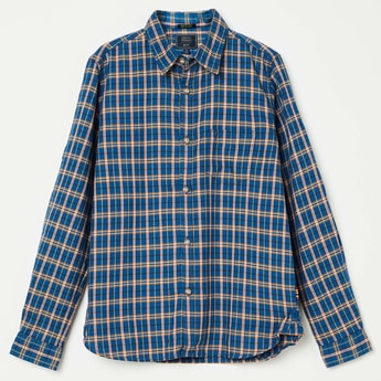 INDIAN TERRAIN Checked Rolled-up Sleeve Shirt