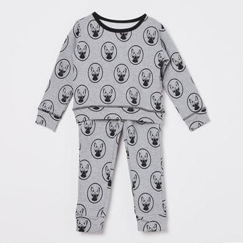 CLAESEN'S Bull Dog Print Night Suit