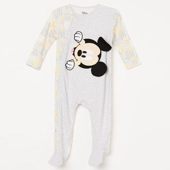 FS MINI KLUB Mickey Print Button Up Onesie