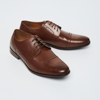 RED TAPE Genuine Leather Toe-Cap Derby Shoes