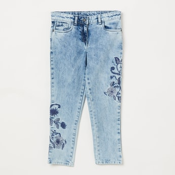 BOSSINI Embroidered Jeans