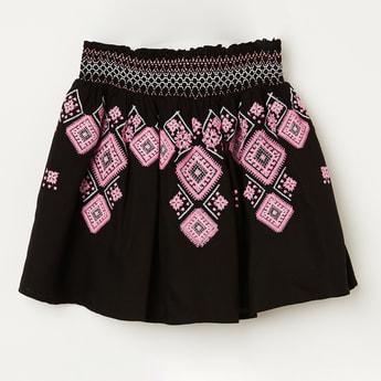 BOSSINI Printed A-line Skirt