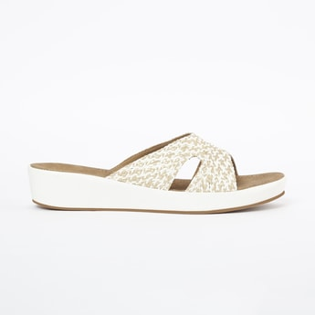 INC.5 Textured Flatforms with Braided Strap
